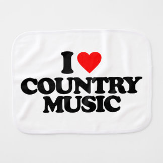 I LOVE COUNTRY MUSIC BABY BURP CLOTHS