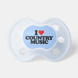 I LOVE COUNTRY MUSIC BABY PACIFIER