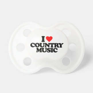I LOVE COUNTRY MUSIC BABY PACIFIERS