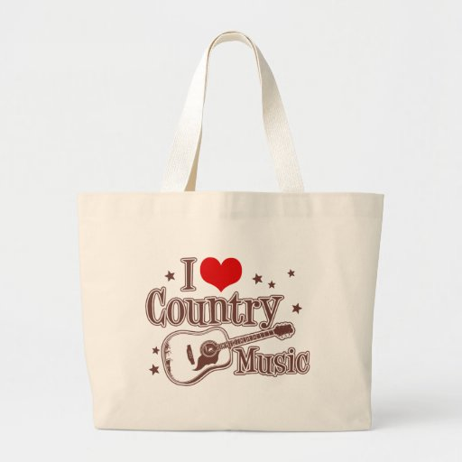 I Love Country Music Bags