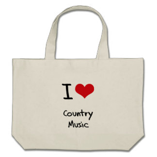 I love Country Music Canvas Bags