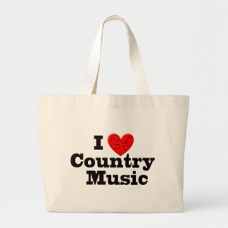 I Love Country Music Canvas Bag