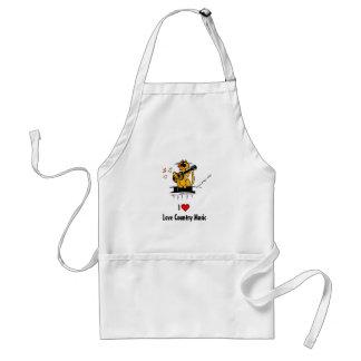 I love country music by Kountry Kat Standard Apron