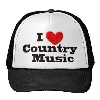 I Love Country Music Trucker Hat
