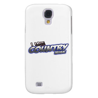 I Love COUNTRY music Galaxy S4 Case