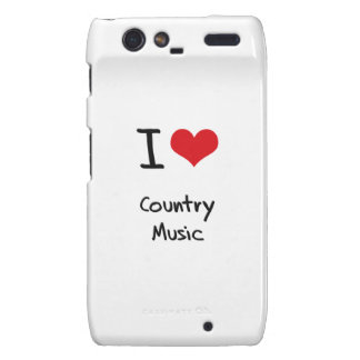 I love Country Music Droid RAZR Cases