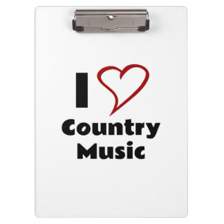 I Love Country Music Clipboard