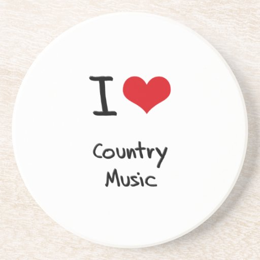 I love Country Music Coasters