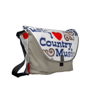 I Love Country Music Commuter Bag