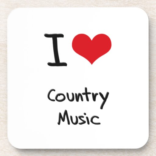 I love Country Music Beverage Coaster