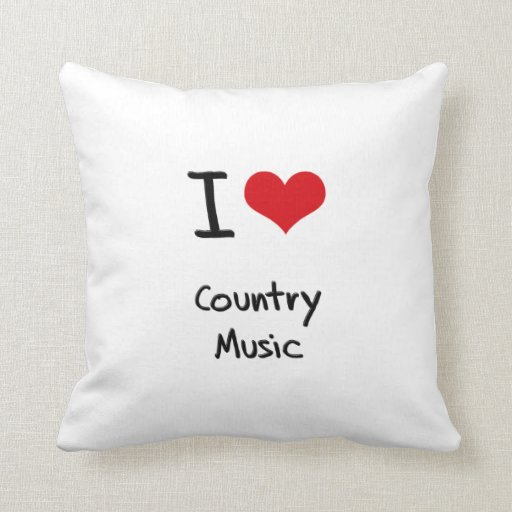 I love Country Music Pillow