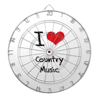 I love Country Music Dart Boards