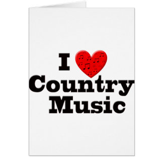 I Love Country Music Greeting Card