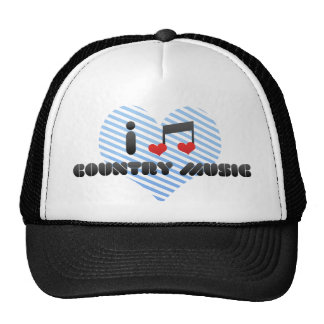I Love Country Music Mesh Hat