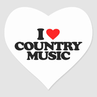 I LOVE COUNTRY MUSIC HEART STICKER