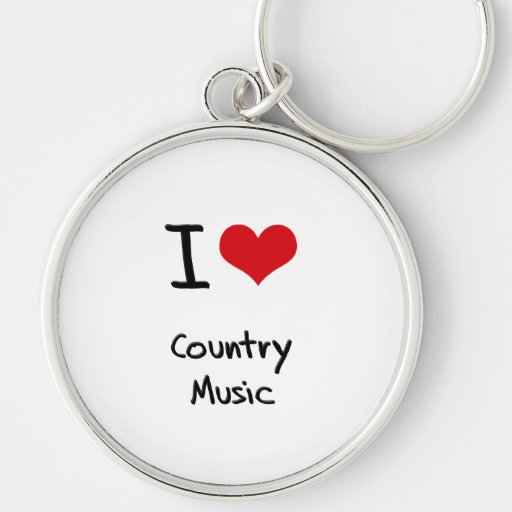 I love Country Music Key Chain