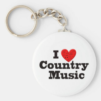 I Love Country Music Keychains