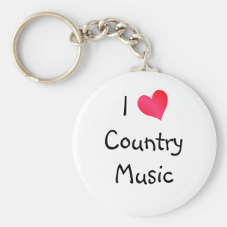 I Love Country Music Key Chains