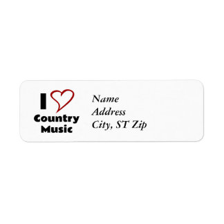 I Love Country Music Return Address Label