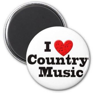 I Love Country Music Refrigerator Magnets