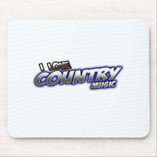 I Love COUNTRY music Mousepads