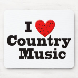 I Love Country Music Mouse Pad