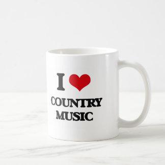 I love Country Music Coffee Mugs