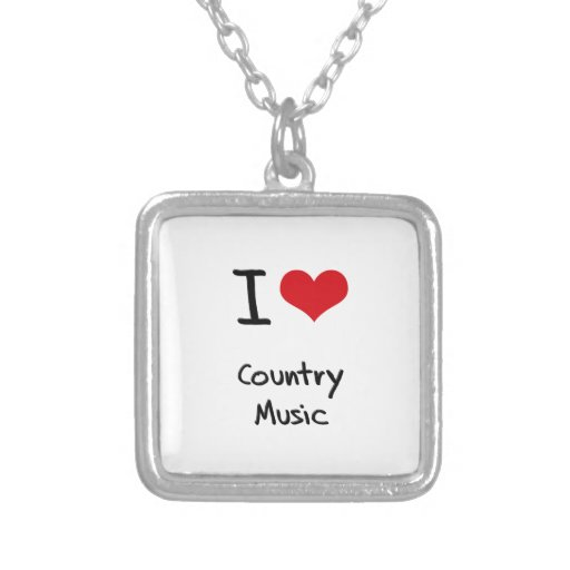 I love Country Music Custom Necklace