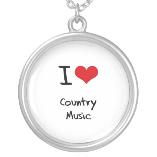 I love Country Music Pendant