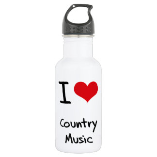 I love Country Music 18oz Water Bottle