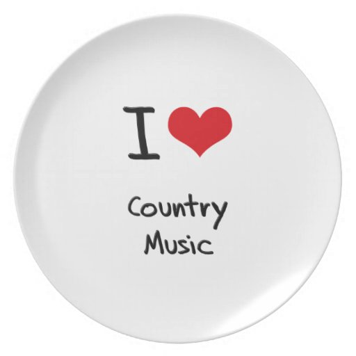I love Country Music Plates