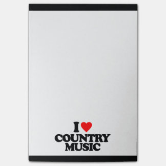 I LOVE COUNTRY MUSIC POST-IT® NOTES