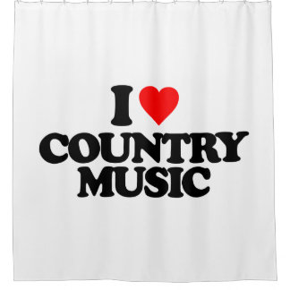 I LOVE COUNTRY MUSIC SHOWER CURTAIN