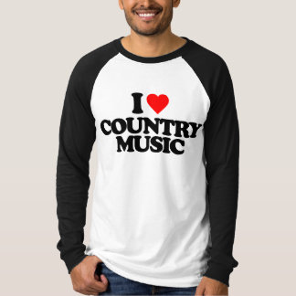 I LOVE COUNTRY MUSIC T SHIRT