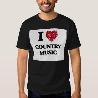 I love Country Music Tee Shirts