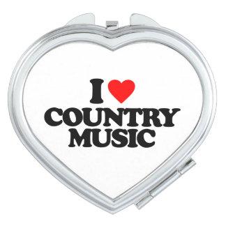 I LOVE COUNTRY MUSIC VANITY MIRROR