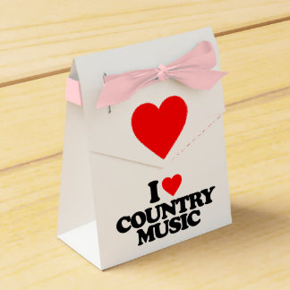 I LOVE COUNTRY MUSIC WEDDING FAVOUR BOX