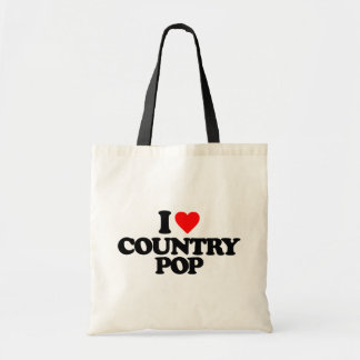 I LOVE COUNTRY POP BUDGET TOTE BAG