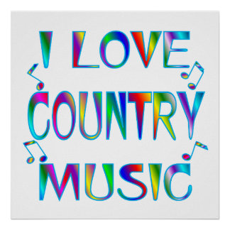 I Love Country Print