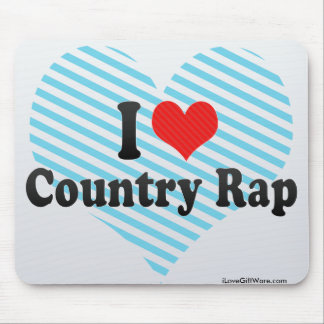 I Love Country Rap Mouse Pad