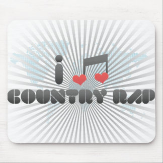 I Love Country Rap Mouse Pads