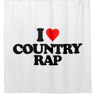 I LOVE COUNTRY RAP SHOWER CURTAIN