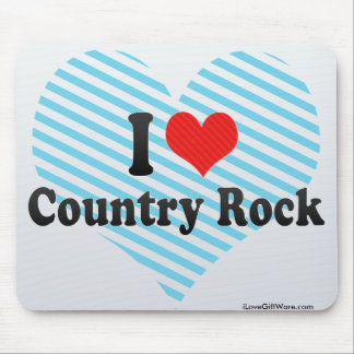 I Love Country Rock Mouse Pad