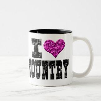 I Love Country Two-Tone Mug