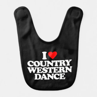I LOVE COUNTRY WESTERN DANCE BIB