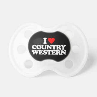 I LOVE COUNTRY WESTERN PACIFIERS