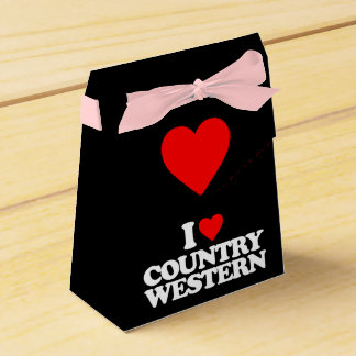 I LOVE COUNTRY WESTERN PARTY FAVOUR BOX