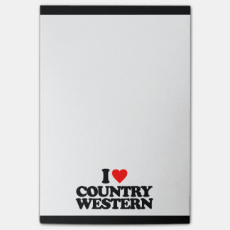 I LOVE COUNTRY WESTERN POST-IT® NOTES