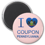 I Love Coupon, PA 6 Cm Round Magnet