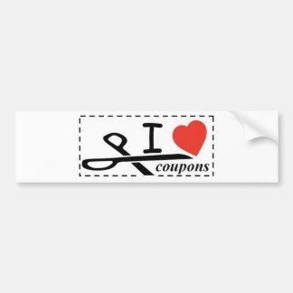 I LOVE COUPONS BUMPER STICKER